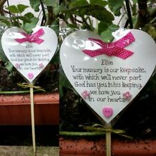 Memorial heart Pink-Baby funeral verse- Child Grave Ornament-Memory Keepsake