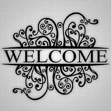 "Welcome Wall Decal, Welcome Decor, Decorative Sticker, 26""x20"""
