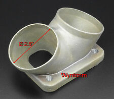 "T4 Divided Turbo Inlet FLANGE Twin 2.5"" Inlet TAPPED Mild Steel M10 X 1.25"