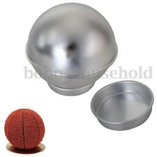 3D SPORTS BALL CAKE TIN PAN NETBALL FOOTBALL TENNIS SOCCER HALF BALL SPHERE SET