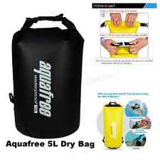 Aquafree Dry Bag, 5L Black 100% Waterproof, Kayak/Canoeing/Fishing/Sailing/Campi