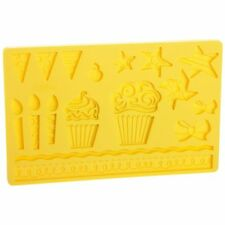 Wilton Kids Party mold Candles cupcakes banners Sugarcraft MouldNext Day Despatc