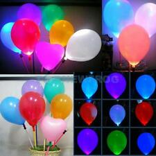 Color Changing Colorful Blinking Lighted Glow LED Lights w/ Latex Balloon Party