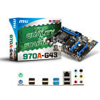 PC Mainboard MSI 970A-G43 AM3+ AMD 970+SB950 4x DDR3 USB3.0 PCI-E ATX LAN