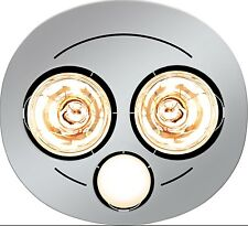 HPM 2x275W BATHROOM INSTANT HEAT 3in1 Exhaust Fan & 7W LED Light Round - SILVER