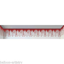 Haunted House Dripping Blood Wall Halloween Scene Setter Room Border Decoration
