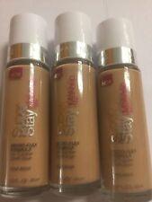 3 X Maybelline SuperStay 24Hr Makeup Liquid Foundation ( TRUE BEIGE ) NEW.