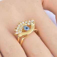 New Blue eye Evil eye Rings For Women Gold Filled Mens Rings Size 9