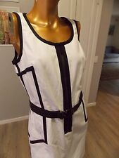 MICHAEL KORS black & white belted dres      BNWTS              Sz 8