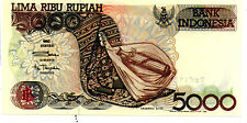 Indonesia 5000rp Banknote UNC 1992