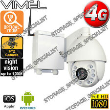 4G Security Camera PTZ 18XOptical Zoom Motor GSM Alarm Farm Live View Outdoor 3G