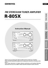 Onkyo Integra R-805X Tuner Owners Instruction Manual