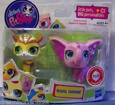 Littlest Pet Shop Totally Talented Elephant and Chipmunk #2693-2692 New in Box