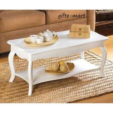 distressed french Cottage chic White shabby Wood Sofa small Coffee table & Shelf