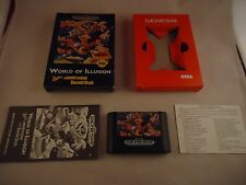 World of Illusion Starring Mickey Mouse & Donald Duck Sega Genesis 1992 COMPLETE