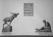 PUBLICITÉ 1927 SUSSE FRERES FONDEURS APPEL DANS LA FÔRET DE PROST - ADVERTISING
