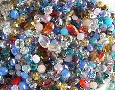 2 oz LOT Mix Crystal Glass Faceted Beads Rondelle Drop Oval Round 120 Pieces