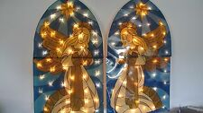 FONTANINI HOLY FAMILY CHRISTMAS LIGHTED YARD DISPLAY ANGELS KINGS