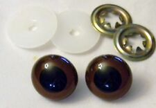 CRAFT TOY 1 PAIR ANIMAL EYES BROWN & BLACK 1""