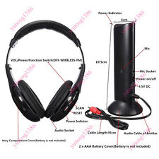 5 in 1 Wireless Headphone Over-Ear Earphone Transmitter Mic FM Radio TV PC Cool