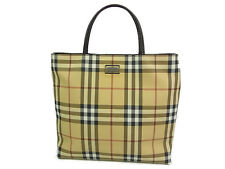 Auth BURBERRY LONDON Nova Check Plaid Pattern PVC Tote Hand Bag F/S 10049eRQ