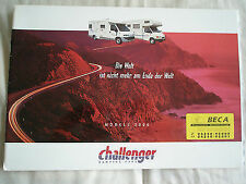 Challenger Camping Motorhome brochure 2000 German text