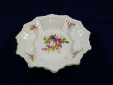 Vintage Shelley China Porcelain Nut Dish 13420 White with Green Trim Red Roses