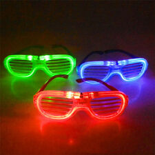 LED Light Shutter Glasses Transparent Glasses Electronic Flashing Party Supplies