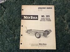 985060 - A New Original Operators Manual For A New Idea No. 205 Manure Spreader
