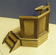 A 1:12 Scale Wooden Pulpit Dolls House Miniature Hand Made Church Furniture
