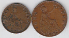 Great Britain - 1 , 1/2  Penny Coin Set - George V - 1931 , 1936