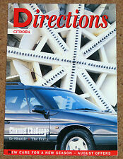Citroen directions magazine issue 10 (1995) - xm estate, zx estate, ax, specials