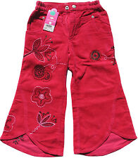Oilily ✿ Cherry Red Designer Pants with embroidery ✿ Girls 104 / Size 3 - 4 NWT
