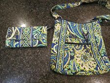vera bradley purse &wallet to match, different color greens and blues, pretty