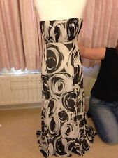 Coast Black And White Bustier Maxi Dress Silk 14 worn once