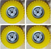 """4 x 10""""Replacement Pneumatic Trolley Wheel For Cart Barrow Truck Sack Tyre Tyres"""