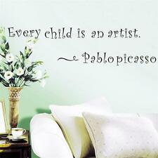Every Child Is An Artist Wall Sticker Quotes Vinyl Home Decal Words Mural decor