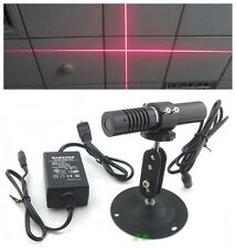 CE 635nm 10mw Red cross line diode laser Generator Module + Power adapter +Mount