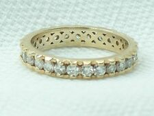 Estate 14K Yellow Gold 1 Carat Diamond Eternity Wedding Band Ring