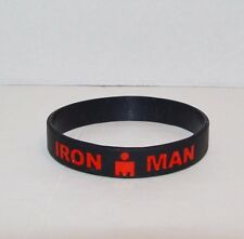 Ironman Triathlon Wristband Iron Man 140.6 Race Black Red Road ID Swim Bike Run