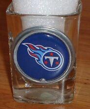 NFL TENNESSEE TITANS pewter framed  emblem square shot glass