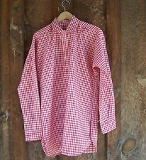 CIVIL WAR SASS RED AND WHITE CHECKERED MUSLIN SHIRT XLARGE