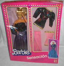 #7265 NIB Mattel Mexico Barbie Sensacion Set Foreign Issue