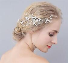 Silver Rhinestone Headdress Bridal Hair Comb Crystal Wedding Prom Headpieces