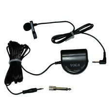 MICRONIC SELF POWERED MINI LAPEL MICROPHONE ON/OFF VOLUME CONTROL 3.5mm & 6.35mm