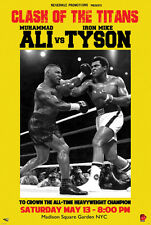 Fantasy Heavyweight Championship MIKE TYSON vs. MUHAMMAD ALI Boxing Poster