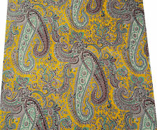 "100% Pure Cotton Fabric Paisley Print 42""Wide Sewing Material By The Yard"