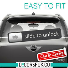 Slide to unlock Car Sticker, Car Bumper, Fridge, Laptop, DL size - Car stickers