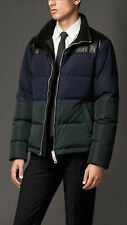 NWT BURBERRY LONDON $1595 MENS LEATHER PUFFER DOWN JACKET COAT SZ XL