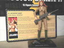 GI JOE ~ 2011 SPARTA  ~ MISSION BRAZIL CONVENTION ~ 100% complete & FILE CARD